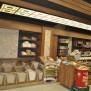 Bakliyat bölümü, dekoratif tavan ve duvar çalışmasıyla birlikte. Özkuruşlar Market